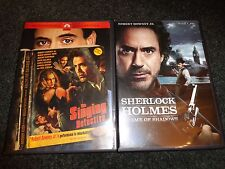 THE SINGING DETECTIVE & SHERLOCK HOLMES:GAME OF SHADOW-2 DVDs-ROBERT DOWNEY JR
