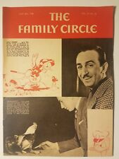 1938 WALT DISNEY COVER ON 'THE FAMILY CIRCLE' w/ DONALD DUCK FINE EXAMPLE SCARCE