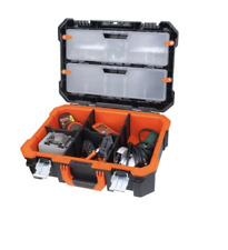 Heavy Duty Black Mechanic Technician Tool Case Removable Organizers