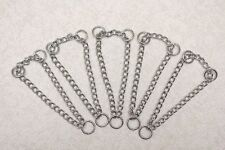Pack of 5 - Job Lot - Chrome Half Check Chains / Martingale Chains - 10mm Rings