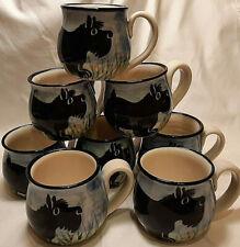 Karen Donleavy KD Hand Thrown Art Pottery Scottie Coffee Mug Cup Vintage