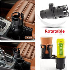 Rotatable Black Car Seat Drink Cup Holder Travel Coffee Bottle Stand Accessories