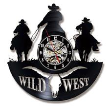 Vinyl Record Wall Clock Modern Design Wild West Clocks CD Wall Watch Home Decor
