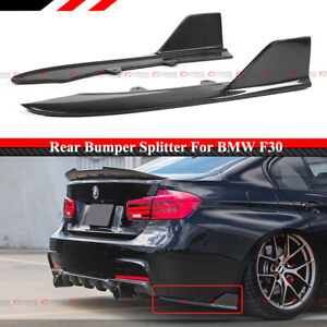 For 12-18 BMW F30 M Sport Carbon Fiber Rear Bumper Side Corner Aprons Extension
