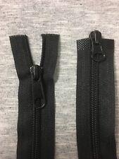 "17"" / 43cm Black Zipper 2 Way O/End 1 Zip"