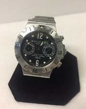 BVLGARI AUTOMATIC SCB38S SCUBA CHRONOGRAPH AUTOMATIC BLACK DIAL WATCH