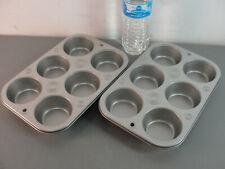 � Muffin Bakeware Cupcake Pan Lot 2 Non Stick Coating New Baking Tray 🎂