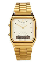 Casio AQ230 GA 9D Gold Analog and Digital Watch AQ-230GA-9D COD Paypal Meet ups