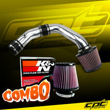Polish Cold Air Intake + K&N Air Filter For 02-06 Sentra Spec-V SE-R 2.5L