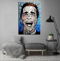 """Alec Monopoly Banksy Print on canvas Graffiti art wall decor Blue Patrick 28x40"""""""
