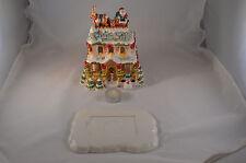 2002 Luminous Treasures Avon Collectibles A Visit From Santa Tealight House