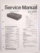 Technics Original Service Manual + Supplement Page SU-A600 Amplifier