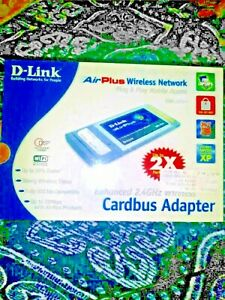 D-Link AIRPLUS  DWL 650+ 2.4 ghz Wireless Cardbus Adapter, 802.11b, 22Mbps