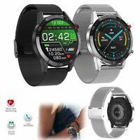 Edelstahl Smartwatch EKG Herzfrequenz Armband Remote-Kamera für iOS Samsung LG