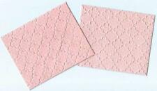 10 x HANDMADE EMBOSSED  PATTERNED PINK MINI  ENVELOPES ~100mm x 80mm -