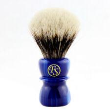 20MM 2 Band Finest Badger Hair Shaving Brush w/ Sapphire Blue Handle