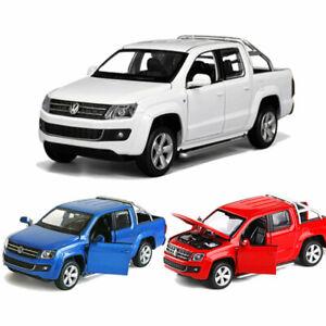 1:30 VW Amarok Pickup Truck Model Car Diecast Gift Toy Vehicle Kids Pull Back
