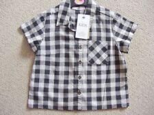 T-shirts, hauts et chemises blanches à motif Carreaux pour fille de 2 à 16 ans en 100% coton