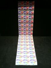 Lot of 50 Vintage 1982 Lisa Frank Stickers Heart and Rainbow Rays Sun and Sky