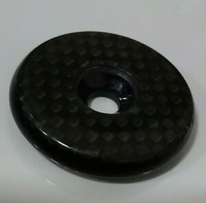 "1-1/8"" Headset Carbon Fiber Top Cap Cover With Flush Bolt For MTB/Road Bike"