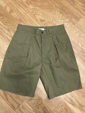 Women's Bugle Boy Green Pleated Shorts Sz 8 Regular