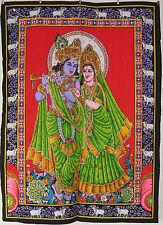 DIEU HINDOU INDIEN radha krishna à paillettes Tenture murale