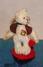 New Ganz Cottage Collectible Miniature Teddy Bear Love  Heart Strings + Gift Box