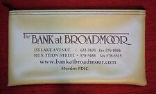 The Bank At Broadmoor Bank Deposit Bag Colorado Springs Vinyl Nice Condition