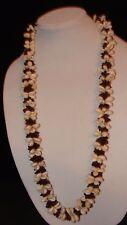 "Vintage 70's Hawaiian Cowrie Shell & seeds 36"" NECKLACE Lei Luau NOS"