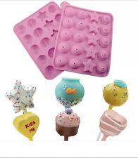 Silicone Cake Pops Mould Maker Baking Set 20 Lollipop Sticks Pop Mold Cooking&2