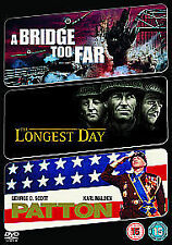 The Longest Day / A Bridge Too Far / Patton - 3 DVD set .