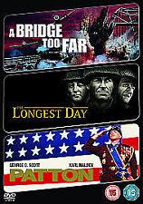 The Longest Day/ A Bridge Too Far/ Patton (DVD, 2009, 3-Disc Set)