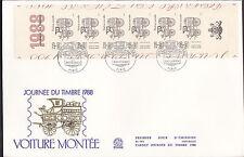 FDC  ENVELOPPE 1er JOUR   GRAND FORMAT JOURNEE  DU  TIMBRE   1988