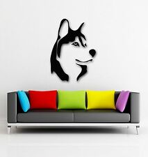 Wall Stickers Vinyl Decal Wolf Husky Dog Predator Nature Tribal ig132