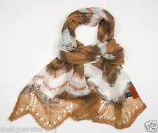MISSONI Mohair ZigZag Scarf in Brown SA59PSD3381  0001