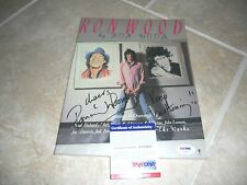 Ron Wood Rolling Stones 1987 1st Ed. Painting Drawing Signed Book PSA Certified