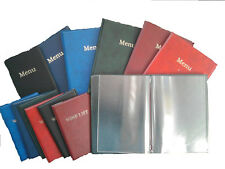 A4 LEATHER LOOK MENU COVER OR WINE LIST COVER PRINTED  NEW PRODUCT