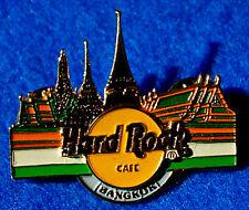 BANGKOK THAI EMERALD BUDDHIST TEMPLE THAILAND BLUE Hard Rock Cafe PIN TAC BACK