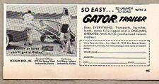 1956 Print Ad Gator Boat Trailers Peterson Bros Inc Jacksonville,FL