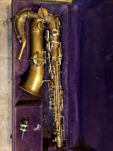 Vintage Buescher True Tone C Melody Saxophone, For Restoration.