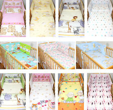 2-6 tlg Baby Bettset Baby Bettwäsche Bettdecke Kissen Nestchen Kinder Bettset