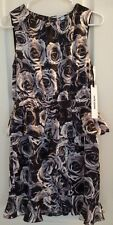 NWT Kate Young For Target Womens Dress Size 6 Black Floral Print Rose