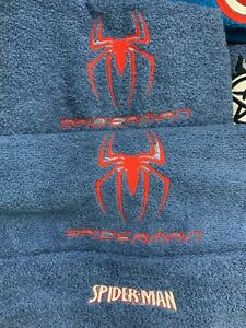3 Piece SPIDERMAN Bath Towel Set- FREE PERSONALIZATION on Bath and Hand Towels