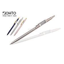 OHTO Slim Line Needle Ball Point Pen 0.5mm Blue Silver Pink Body 3pcs Full Set