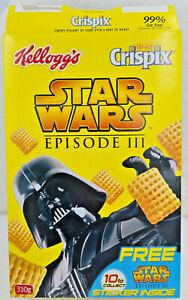 RARE STAR WARS KELLOGGS HONEY CRISPIX BOX YODA Aus 2005 Promo STICKER INCLUDED