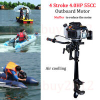 Outboard Motor & Inflatable Boat 4 Stroke 4HP Outboard Engine Air Cooling System