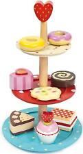 Le Toy Van Honeybake Cake Stand Set Wooden Afternoon Tea Play Food Kids BNIB