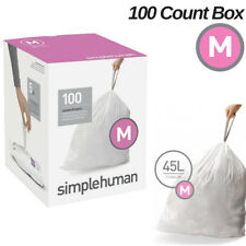 Simplehuman Code M Trash Bag 100 Extra Strong Custom Fit Liners 45 L Garbage Can