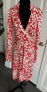 Diane Von Furstenberg DVF New Jeanne Two Size 8 Confetti Wrap Dress