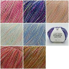 Rico Creative LAZY HAZY Summer Cotton Cotton Mix DK Knitting Crochet Yarn 50g